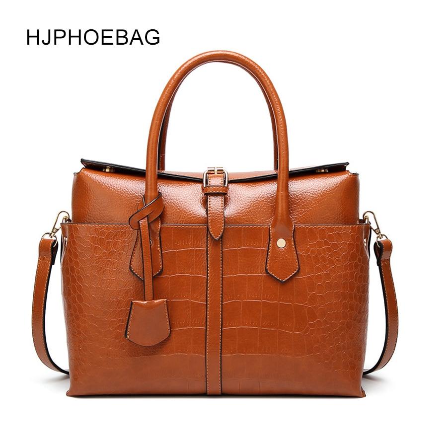 HJPHOEBAG  new fashion crocodile pattern handbag leather PU Messenger bag ladies luxury handbags designer YC031