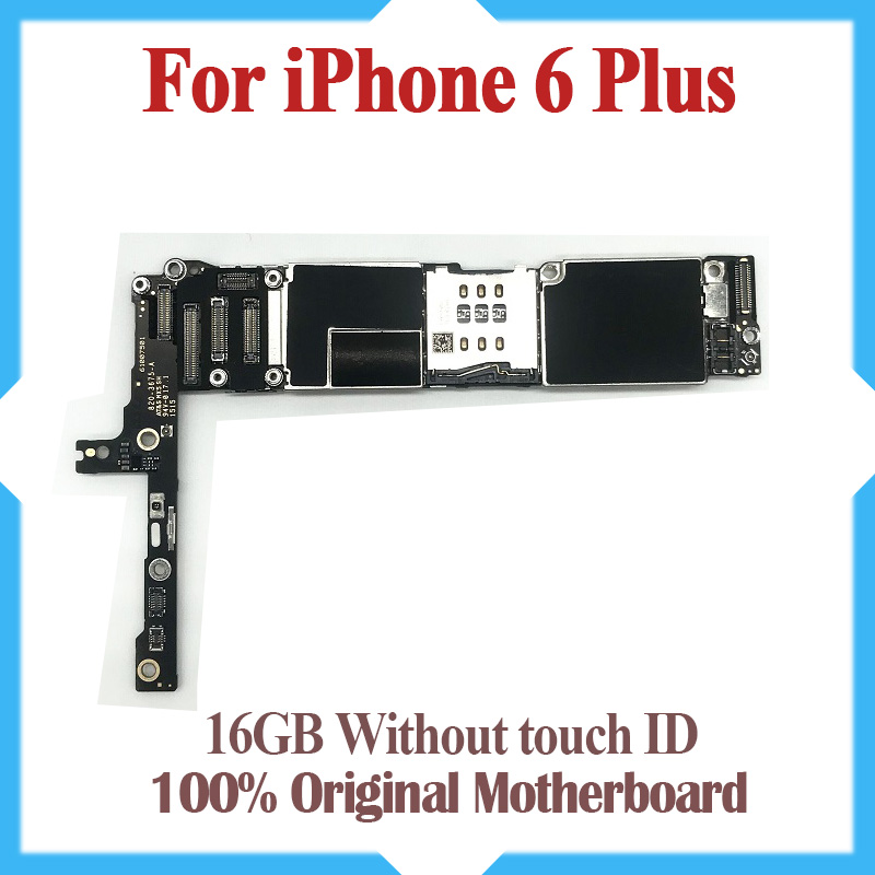 16GB for iphone 6 plus Motherboard without Touch ID Original unlocked for iphone 6P Mainboard with