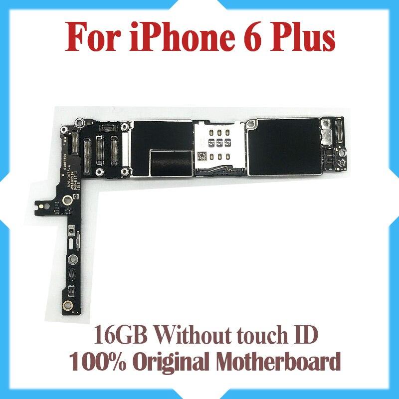 16 ГБ для iphone 6 plus материнская плата без Touch ID, оригинальный разблокирована для iphone 6p платы с IOS Системы, бесплатная доставка