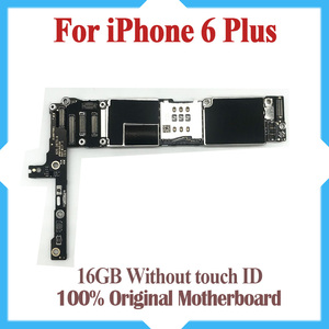 Image 1 - 16GB for iphone 6 plus Motherboard without Touch ID,Original unlocked for iphone 6P Mainboard with IOS System,Free Shipping
