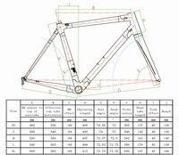 White Black C60 Road Bike Carbon Frame Full Carbon Fiber Road Bike Frame 46 48 50