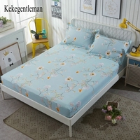 Printed Fitted Sheet Bed Sheet Mattress Cover Bedding Elastic Sheets for Kids Cartoon Flower Single Full Queen King