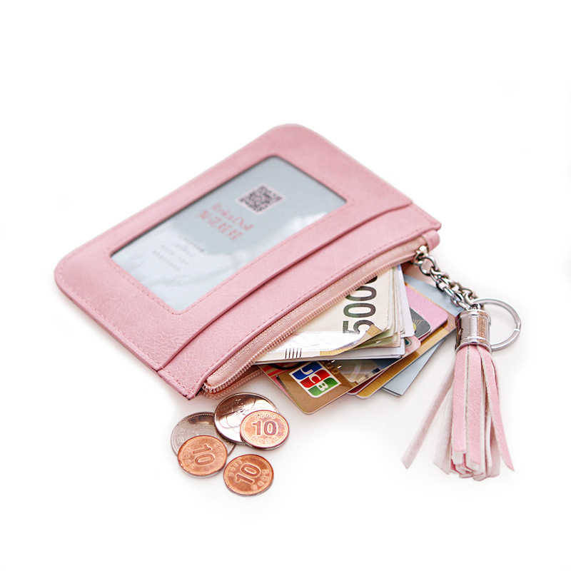 Women Coin Purse Ultra-thin Coin Bag Change Purses Coin Wallet Key Bag 5 Colors Ladies Card Holders Pouch Mini Zipper Purse