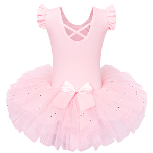 Image 2 - BAOHULU Ballet Dress Tutu Big Bow Dance Ballet Dance Costumes for Girls Ballet tutu  Dance Wear Leotards Gymnastics Dress Tutu