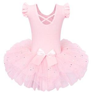 Image 2 - BAOHULU robe de Ballet Tutu grand nœud danse Ballet danse Costumes pour filles Ballet tutu danse vêtements justaucorps gymnastique robe Tutu