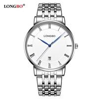 LONGBO Simple Stainless Steel Women Men Quartz Watch Fashion Casual Couple Wristwatch Classic Lovers Watch Gift Mujer Reloj 5091