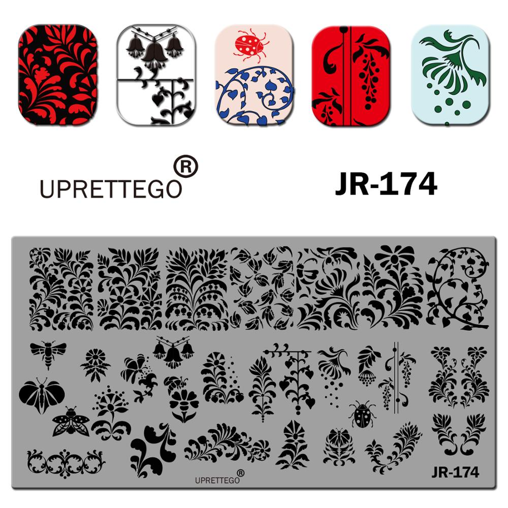 Image 5 - 2019 Stainless Steel Stamping Plate Template English Phrase Geometry Lady Vintage Floral Linear Animal Nail Tool JR171 180-in Nail Art Templates from Beauty & Health