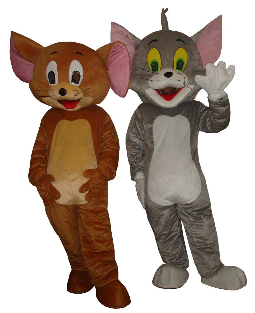 Cosplay costumesTom Gatto e Jerry Mouse Del costume della mascotte formato adulto Tom Gatto e Jerry Mouse Del costume della mascotte