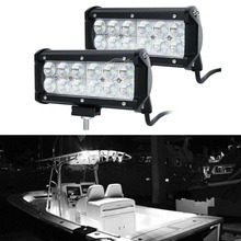 2pcs Marine Spreader Lights LED Light Deck/Mast lights for boat 36W 12v-30v DC