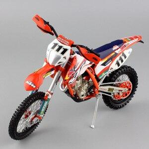Image 1 - 1/12 automaxx ktm EXC F 350 exc racer no. 111 테디 오토바이 redbull diecast enduro 스케일 모델 먼지 자전거 motocross 장난감 자동차 아이