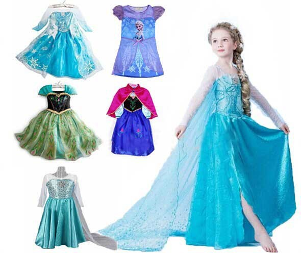 Hot Frozen Dress Elsa Anna For Princess Cosplay Dresses Cartoon Red Cape Brand S Children Clothes Kids Drop Shipping In From Mother