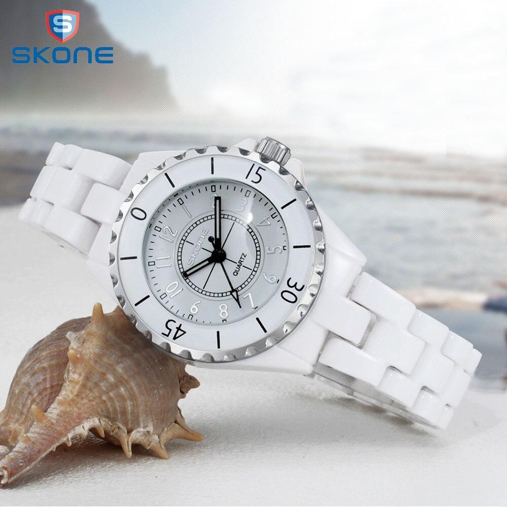 Женские часы SKONE Топ бренд Новые Модные женские аналоговые кварцевые часы женские керамические наручные часы женские часы Relojes Mujer