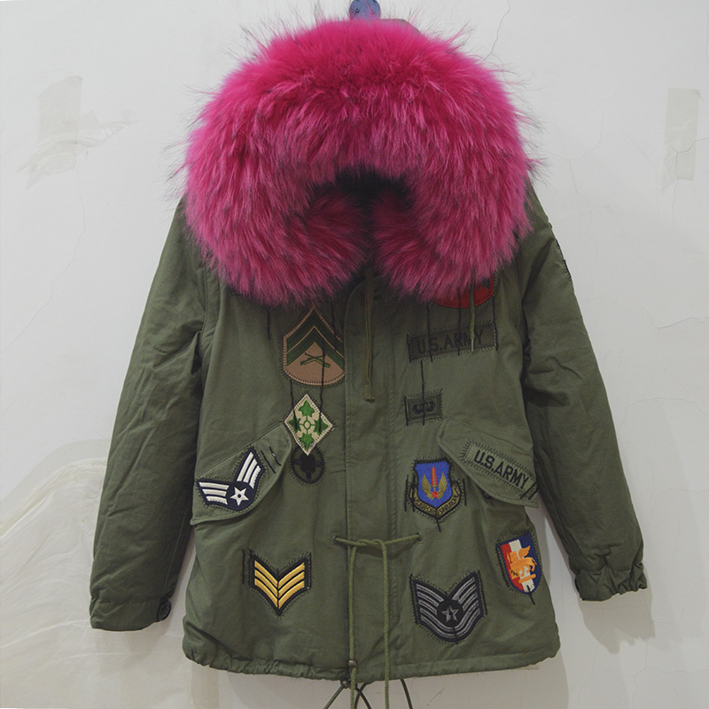 Winter thick lining women jacket faux fur inside men parka different color for select