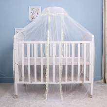 1 Pcs Portable Infant Baby Crib Netting Bed Tents Elegant Baby Infant Round Dome Lace Floor Type Crib Netting For Baby Bed props(China)