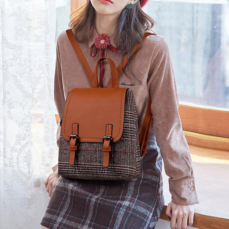 High Quality PU Leather Backpak Women Girl Rucksack Shoulder Bookbags School Bag Satchel Travel Backpack Mochila Masculina
