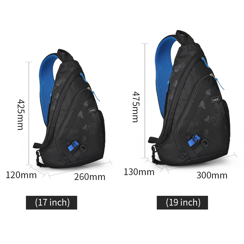 Image 5 - Mixi 2020 Fashion Backpack for Men One Shoulder Chest Bag Male Messenger Boys College School Bag Travel Causal Black 17 19 inchBackpacks   -