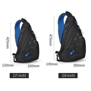 Image 5 - Mixi 2020 модный рюкзак для мужчин на одно плечо, нагрудная сумка, мужская сумка мессенджер для мальчиков, школьная сумка для учебы, повседневная черная 17 19 дюймов