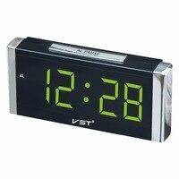 Vst 731長方形キューブデジタル目覚まし時計付きeuプラグ大型デジタルledディスプレイデスクトップクロックホーム発光置時計