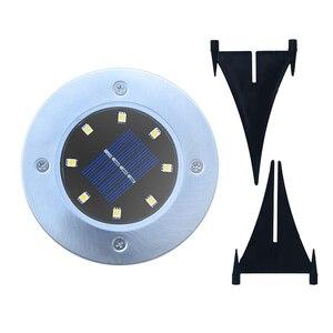 Image 5 - 4 pces 8/12/16 diodo emissor de luz solar ao ar livre à prova dwaterproof água solar gramado luz decorativa solar jardim luz para quintal deck gramado pátio plaza
