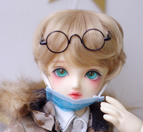 High Temperature Wire Short Curly Wigs Available For 1/8 1/6 1/4 1/3 BJD SD DD MDD Doll Accessories
