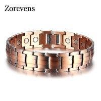 ZORCVENS Copper Magnetic Bracelets for Women Size Adjustable Bronze Color Arthritis Healing Pulsera Female Jewelry