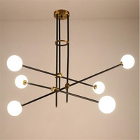 Post Modern Simple Magic Beans 6arms Chandelier Nordic Fashion Glassatmosphere Droplight For Living Room G9 LED
