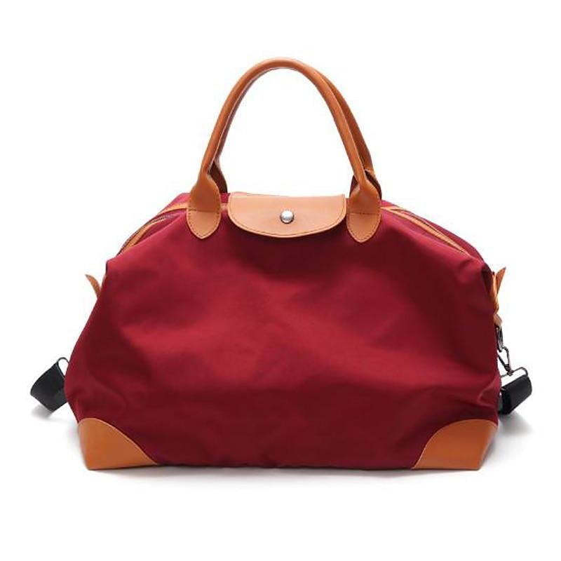Women Travel Bag Zipper Buckle Handbags Pu Leather Accessories Large Capacity Ladies Canvas Weekend Hand Luggage
