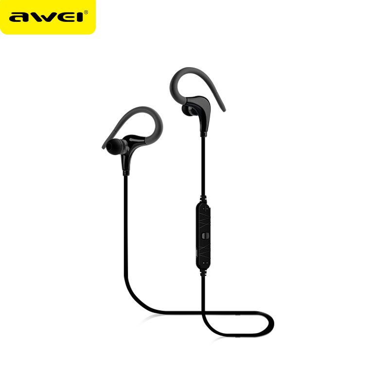 Awei A890BL Wireless Bluetooth  Earphone Stereo  Sport  Noise Cancelling CVC6.0 Headphones with Microphone for iPhone Samsung wireless bluetooth headset mini business headphones noise cancelling earphone hands free with microphone for iphone 7 6s samsung