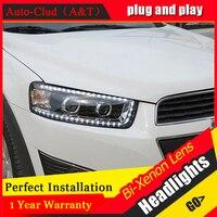 Auto Clud Car Styling for Chevrolet Captiva LED Headlights New Captiva led DRL Lens Double Beam H7 HID Xenon bi xenon lens