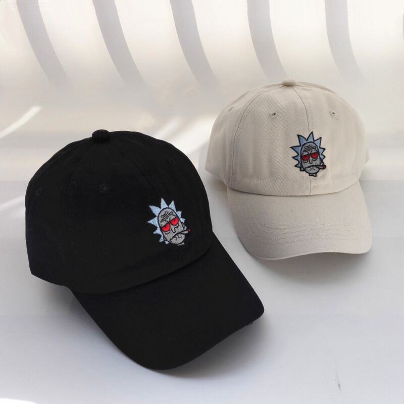 BBS131 New US Animation Rick Caps Dad Hat Rick and Morty Embroidery Hats Adjustable Casquette Cotton Baseball Cap bone Snapback casquette rick et morty