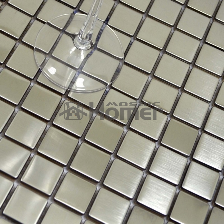 Kitchen Tiles Square: Free Shipping 25mm Square Tile Silver Drawbench Stainless