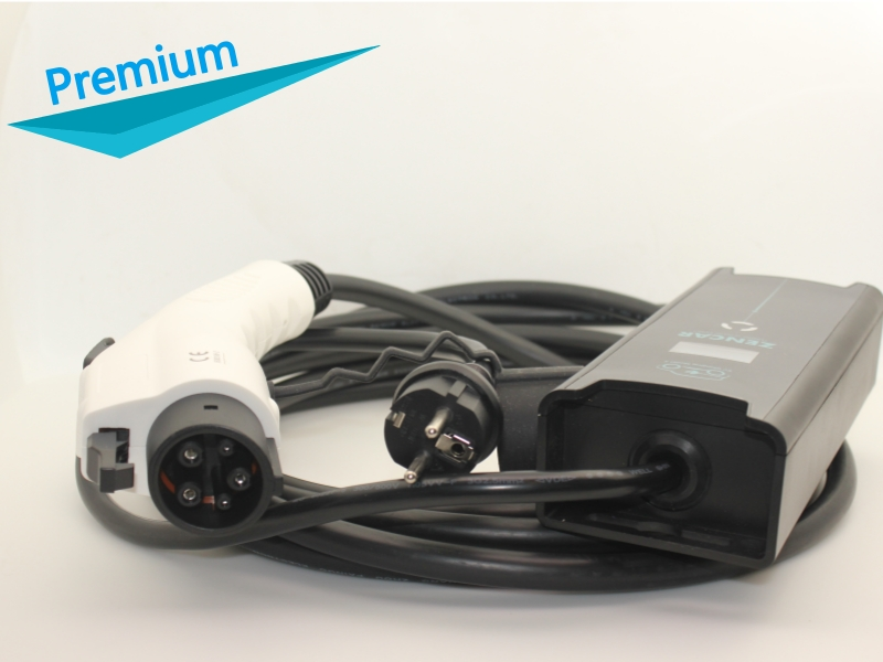 EVSE input Electric ev car Charger Home EV charging Schuko plug SAE J1772 Type 1 5 adjustable 8A 10A 16A 5M cable Stock цены онлайн