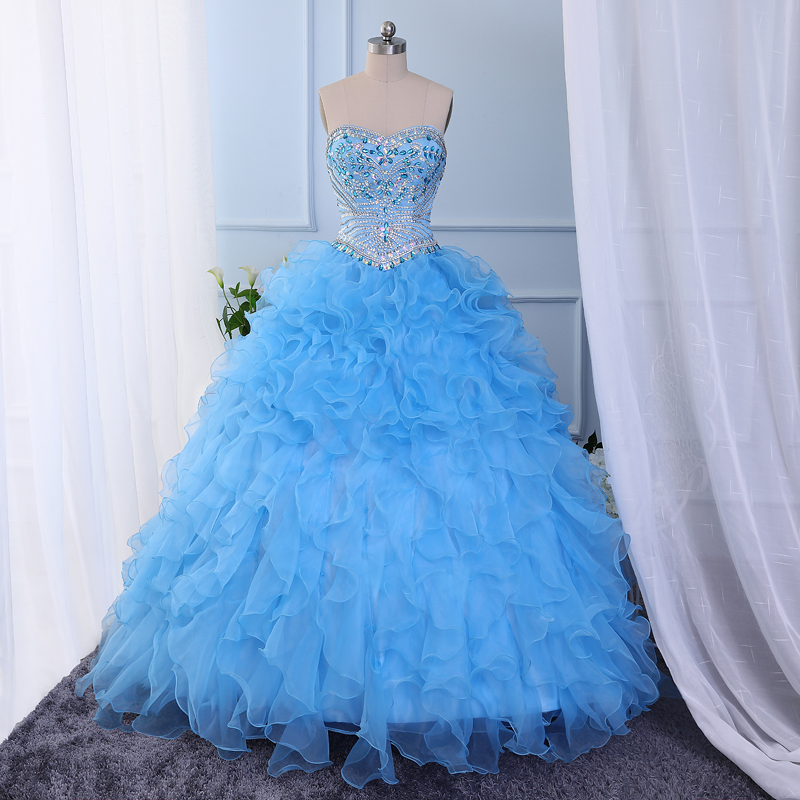 Shiny stones crystals beaded ball gown tulle sweetheart coral quinceanera dresses 2017 free tailor-made cheap aqua champagne