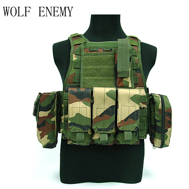 Tactical USMC MOD Molle Assault Plate Carrier Combat Vest Woodland Camo Digital Woodland Sand ACU ботинки usmc американской морской пехоты