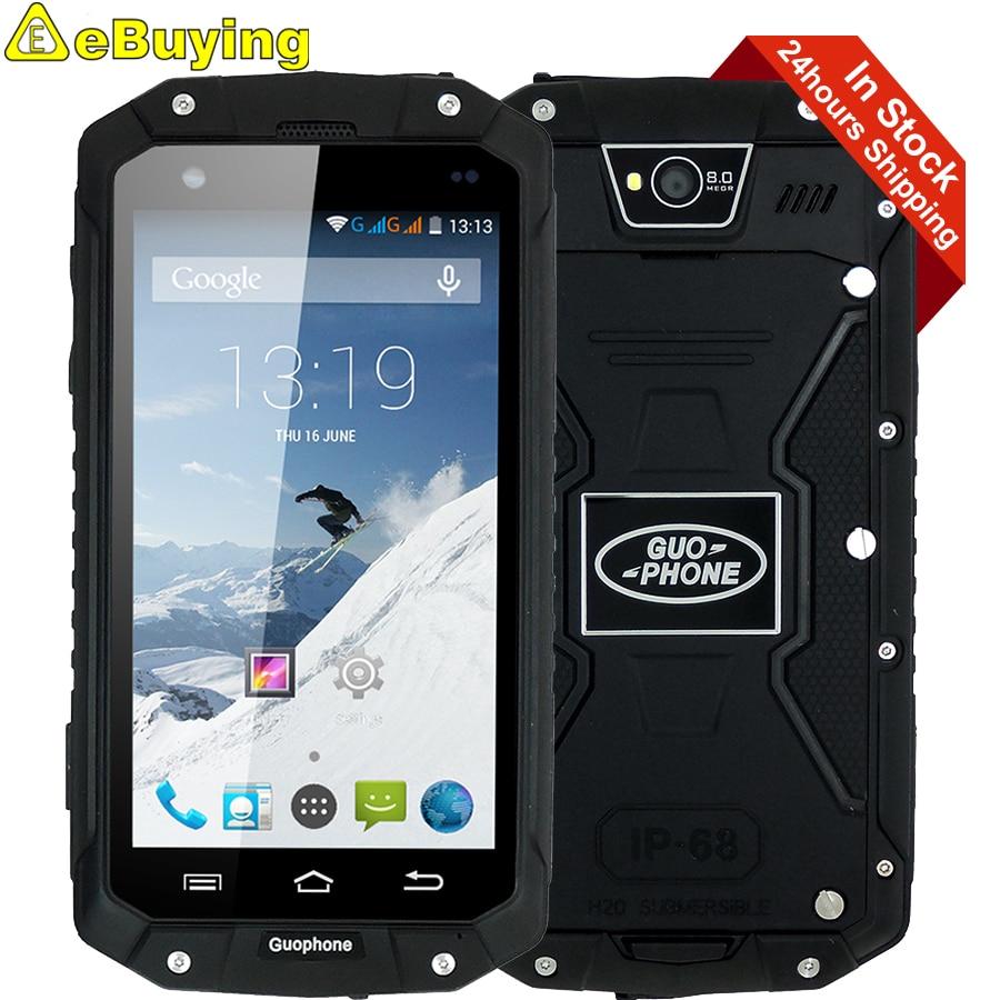 bilder für Guophone v9 smartphone android4.4 mt6572 dual core 512 mb 4 gb 4,5 zoll bildschirm gps ip68 wasserdichte outdoor 3g handy