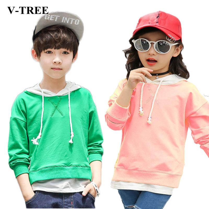 0202a7df US $13.36 16% OFF|V TREE 2018 Spring Boys Coat Jacket Hoodies Outerwear  Teenage Children Hoody Designer Coat Girls Jackets Kids Clothes-in Jackets  & ...