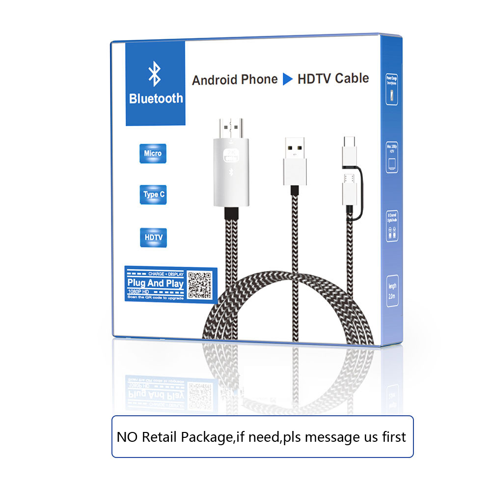 US $9 89 10% OFF|Bluetooth Audio Sync Type C Micro USB HDMI Converter Video  Cable for Huawei P30 Xiaomi Samsung Android Phone Connect to TV HDTV-in