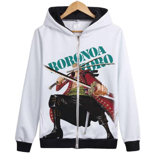 One piece RORONOA ZORO Fashion Sweatshirt For Men