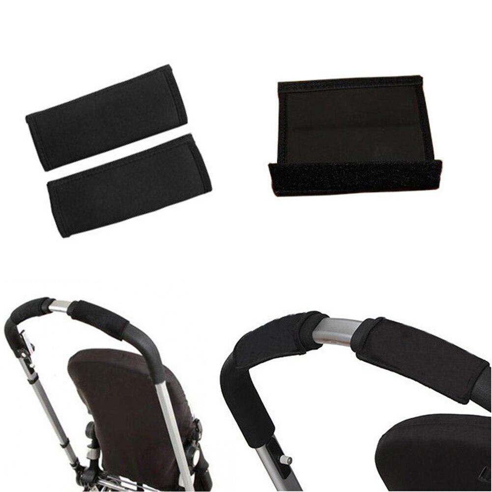 Black Baby Pushchair Stroller Pram Cover Bumper//Handle Bar Cover Oxford Fabric y