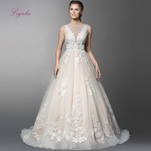 Liyuke 2019 Married A-line Wedding Dress Lace Flower