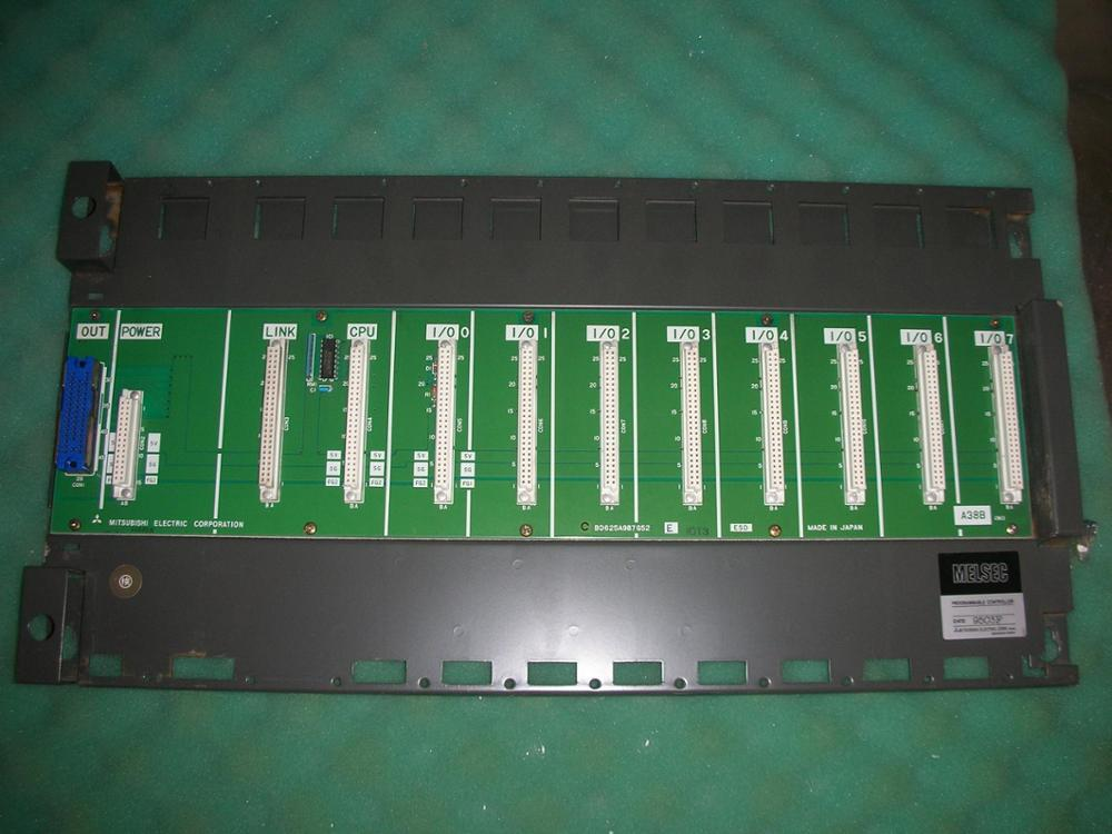 1PC USED The PLC module CPU A38B base plate 1pc used ab plc 1734 ow2