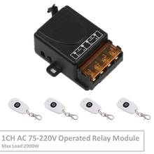 433MHz Wireless Universal Remote Control AC220V 30A 1CH rf Relay Receiver and Transmitter for LED light/Exhaust System switch 220v wireless receiver transmitter remote control switch system 30a 3000w 433mhz light lamp led water pump push cover transmiter