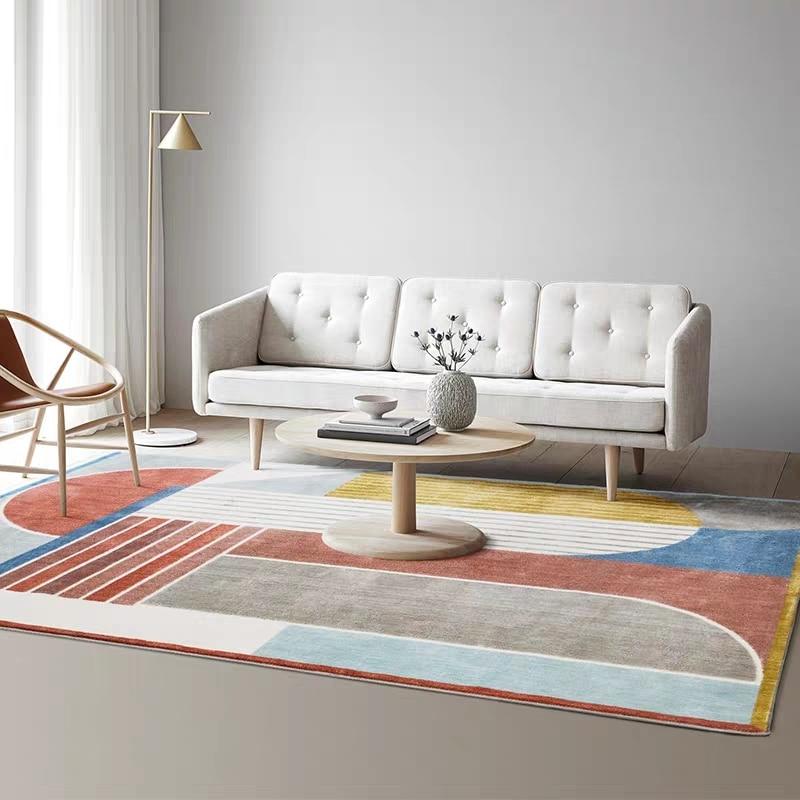 Post-moderne décoration bureau chambre tapis style nordique grande taille géométrique chevet tapis, INS populaire salon tapis