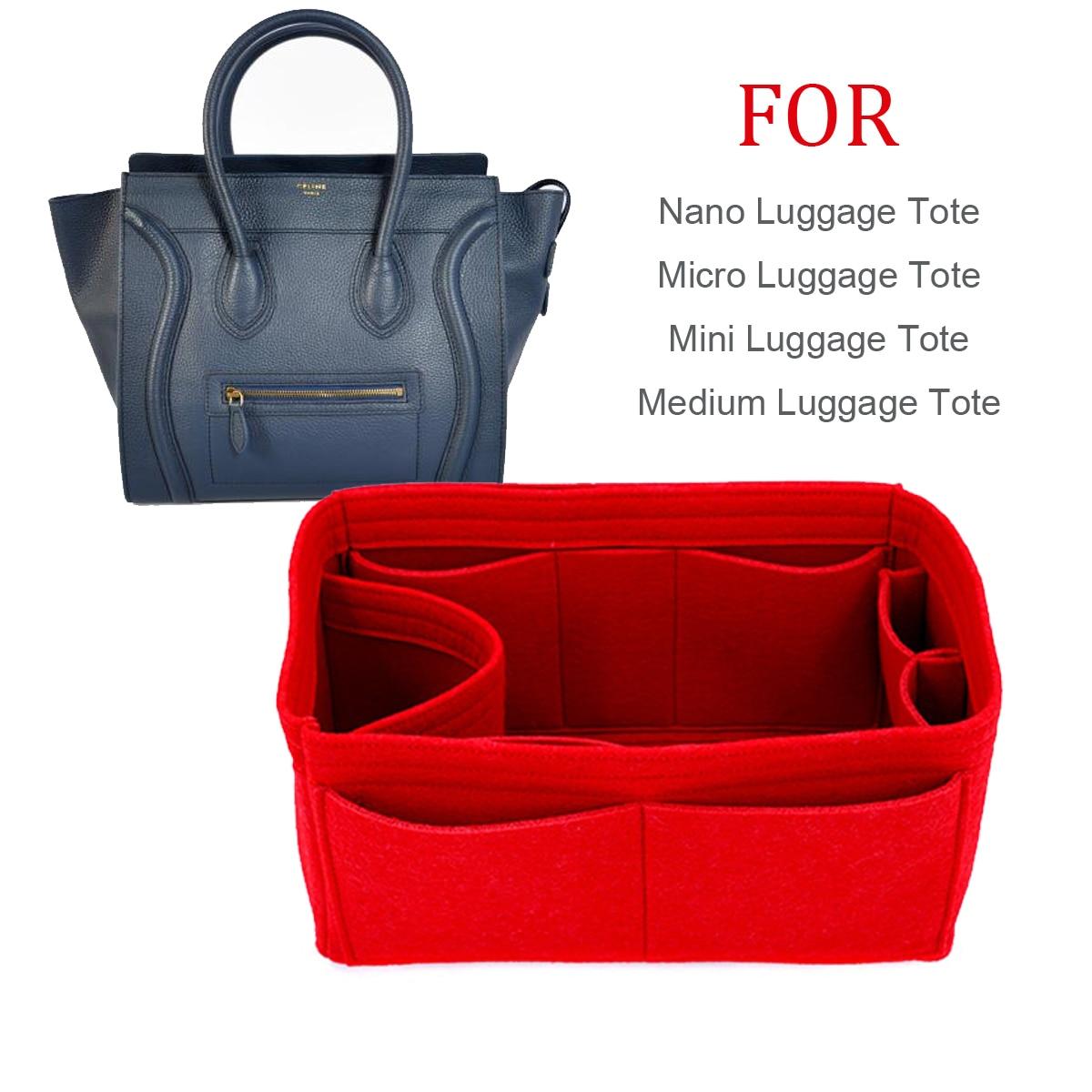 For Luggage Micro Mini Nano Medium Luggage Bag Shaper Purse Insert Makeup Travel Inner Purse Portable Cosmetic Bag Organizer