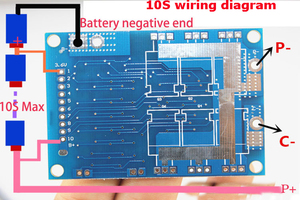Image 3 - 10S 20A   lithium Polymer  lipo BMS/PCM/PCB battery protection board for 10 cells 18650 Li ion Battery Cell