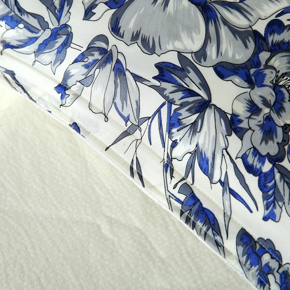 Μπλε λουλούδι Τυπωμένο μαύρο - Αρχική υφάσματα - Φωτογραφία 3