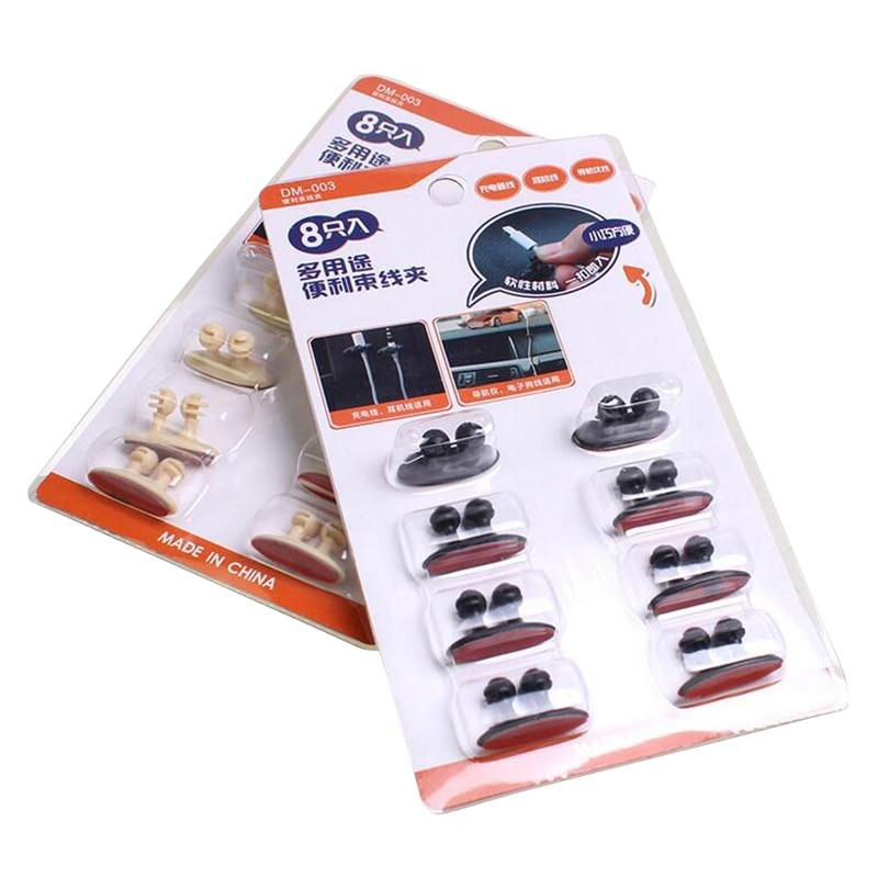 8 հատ / Lot Car Wire Wire Cable Holder Tie Clip Fixer Organizer - Ավտոմեքենայի ներքին պարագաներ - Լուսանկար 4