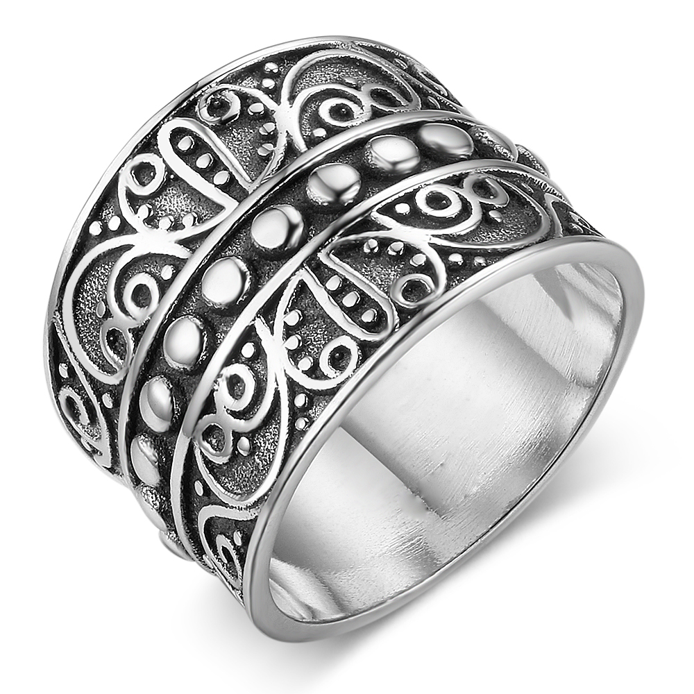 Fashion Solid Rings 15.5MM Width Mysterious Pattern Vintage Style Ring Wedding Engagement Ring Trendy Jewelry For Her(RI102790)
