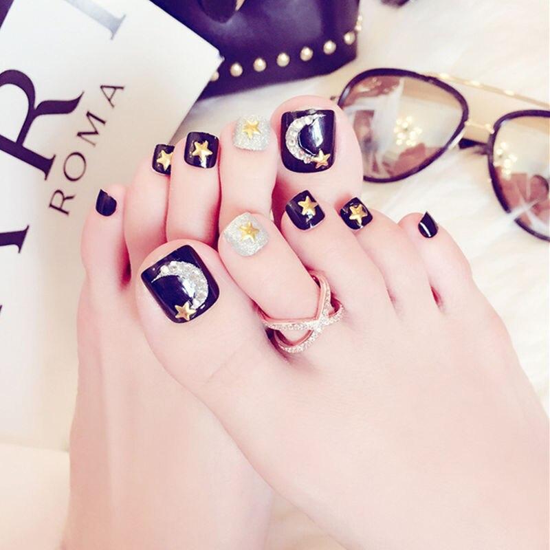 Cute Toenail Tips, False Toe Nail Decals, French Manicure, DIY Nail ...