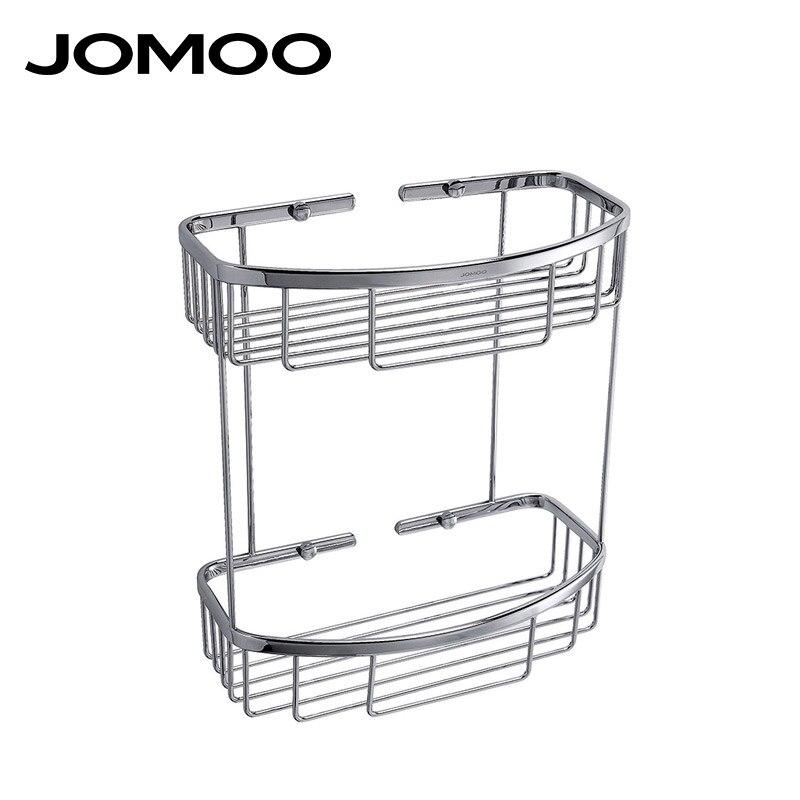 JOMOO Brass Shower Shampoo Soap Storage Organizer Rack Holder Basket Bathroom Shelves Wall Mounted Cosmetic Bathroom